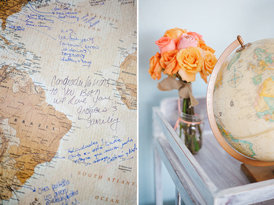 globe guestbook idea @weddingchicks