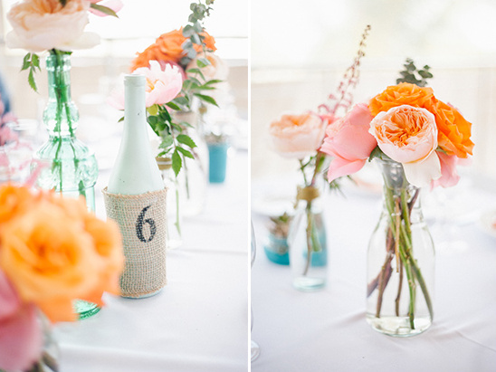 gorgeous garden rose centerpieces @weddingchicks