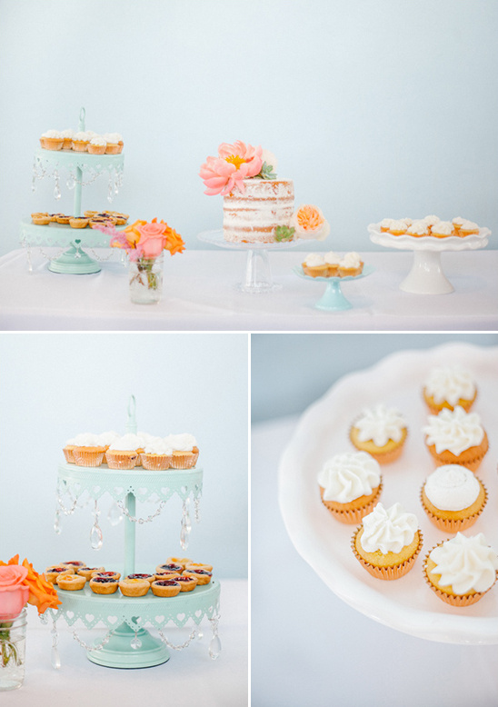 cute mint dessert table ideas @weddingchicks