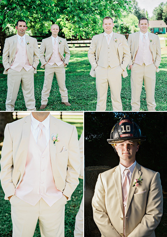 tan and pink groomsmen look @weddingchicks