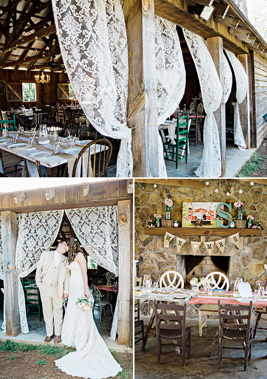 burlap and lace reception decor @weddingchicks