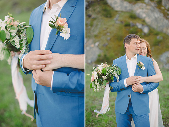 Blue suit @weddingchicks