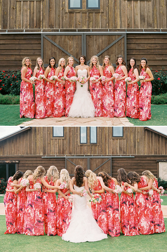 floral bridesmaid dresses @weddingchicks