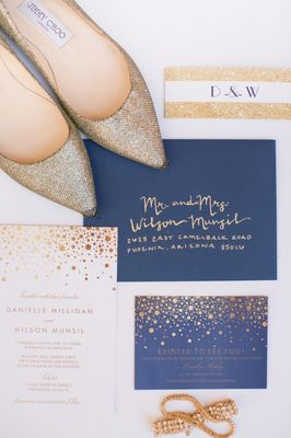 Gold and Navy Wedding