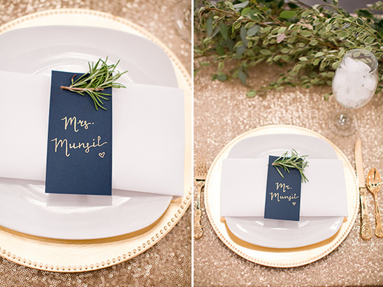 Gold and navy sweetheart table @weddingchicks
