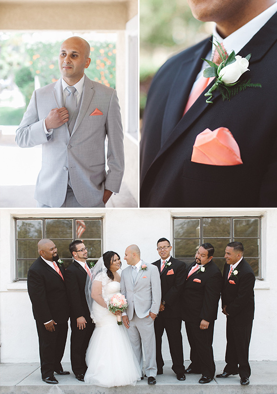 peach groomsmen details @weddingchicks