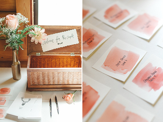 Watercolor seating chart @weddingchicks