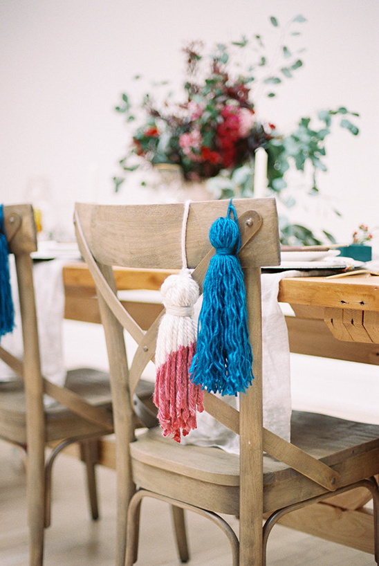 diy dyed tassel @weddingchicks