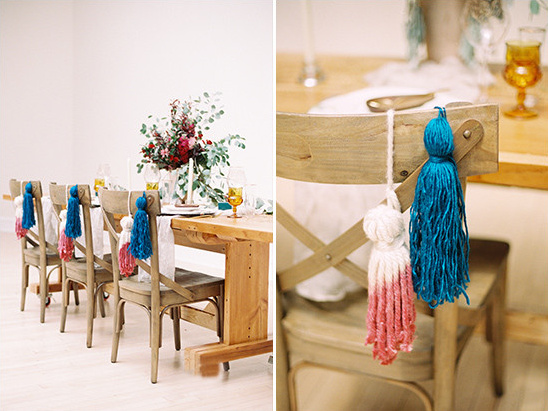 handmade tassel accents @weddingchicks