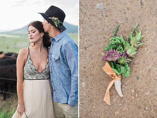 cowboy hat flower accent @weddingchicks