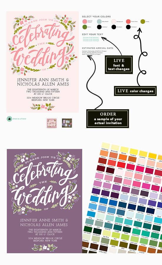 change colors of your wedding invites @weddingchicks