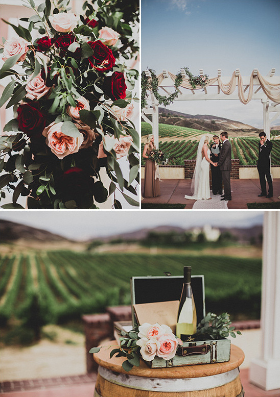 vineyard wedding ceremony @weddingchicks