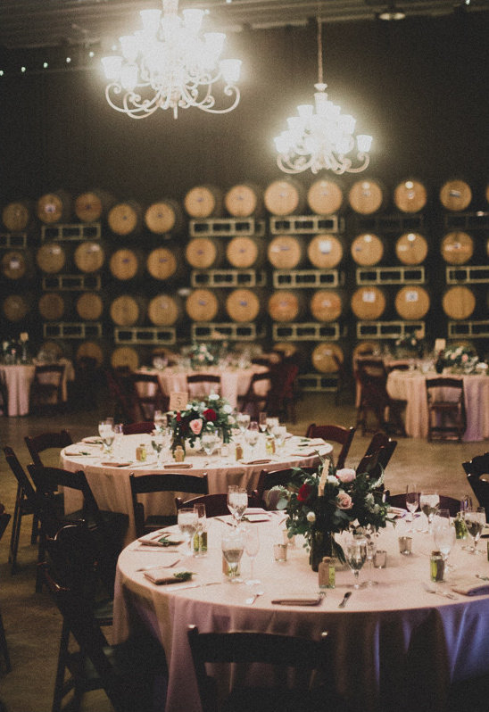 wedding ceremony in wine cellar @weddingchicks