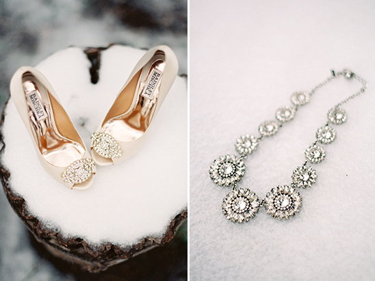 wedding shoes and necklace @weddingchicks