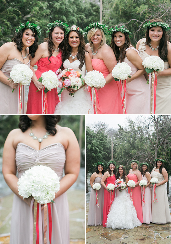pink bridesmaids dresses @weddingchicks