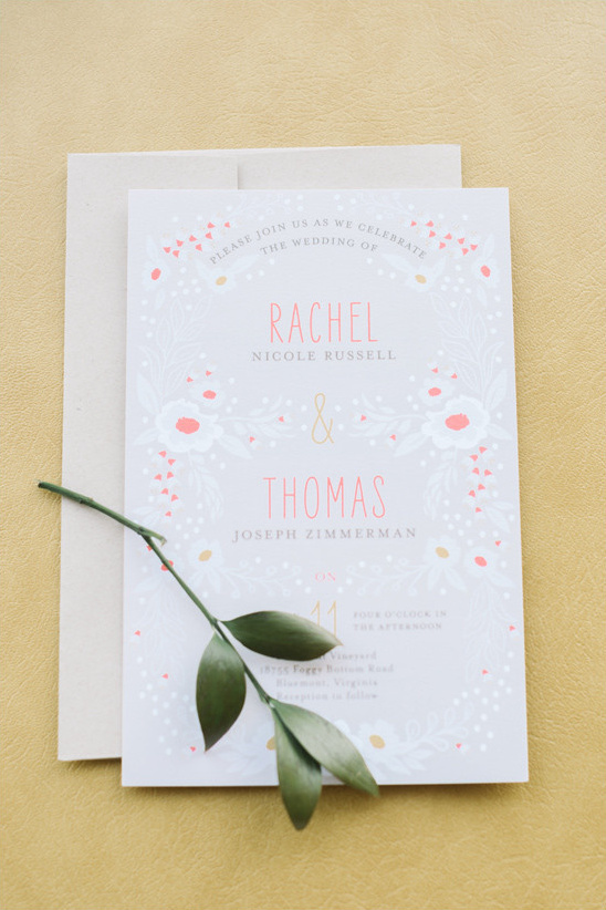 Wedding Paper Divas wedding invitation @weddingchicks