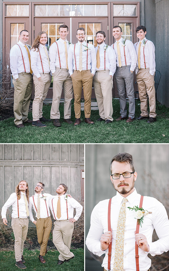 suspenders groomsmen @weddingchicks