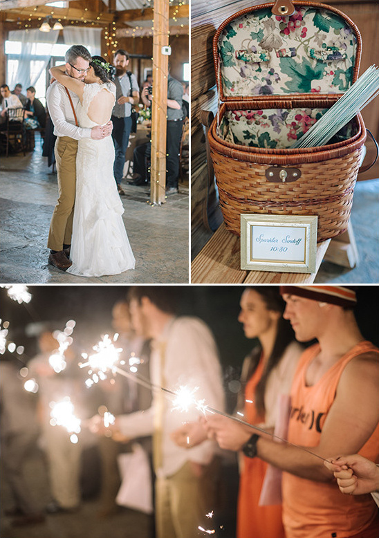 wedding dance and sparklers @weddingchicks