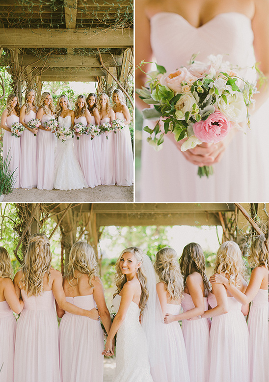 blush bridesmaid dresses @weddingchicks