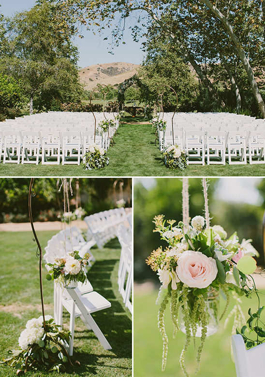 floral wedding ceremony decor @weddingchicks
