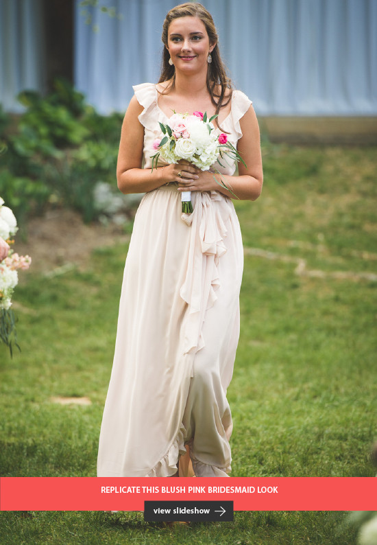 replicate this blush pink bridesmaid look @weddingchicks
