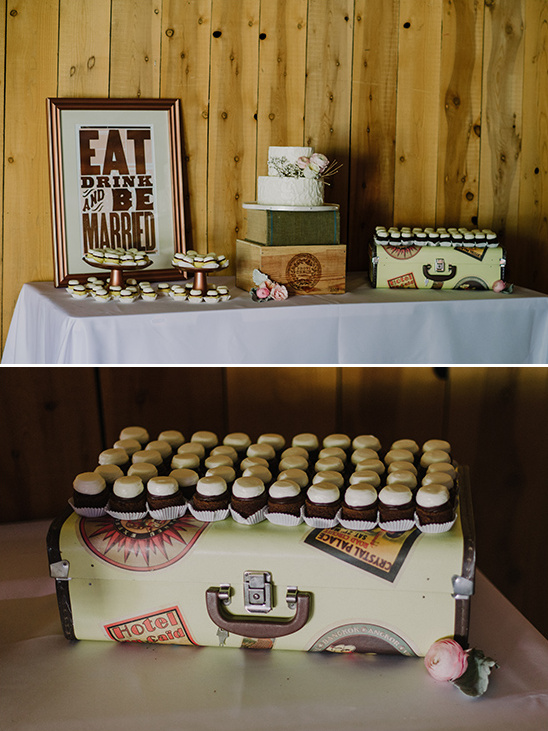 cupcake dessert table @weddingchicks