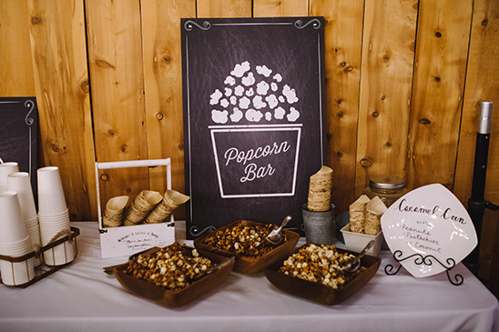 wedding popcorn bar @weddingchicks