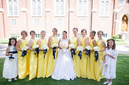 yellow bridesmaid dresses @weddingchicks