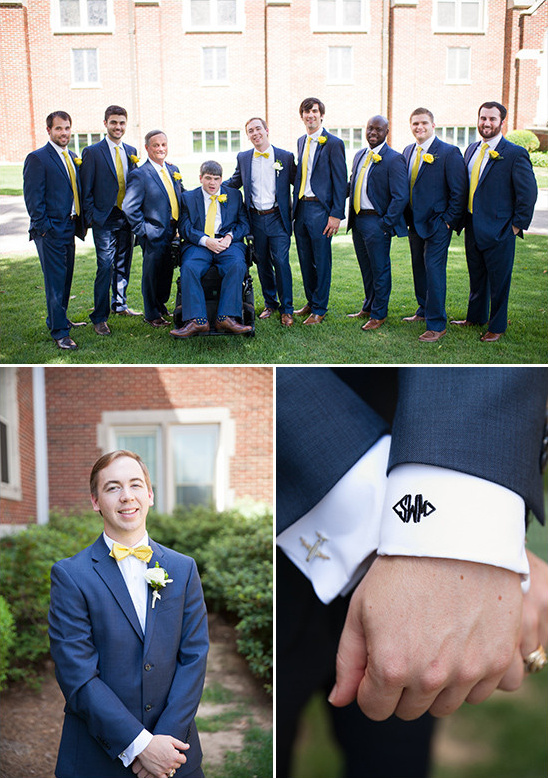 navy and yellow groomsmen @weddingchicks