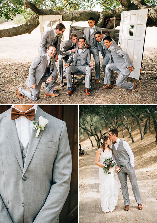 gray groomsmen attire @weddingchicks