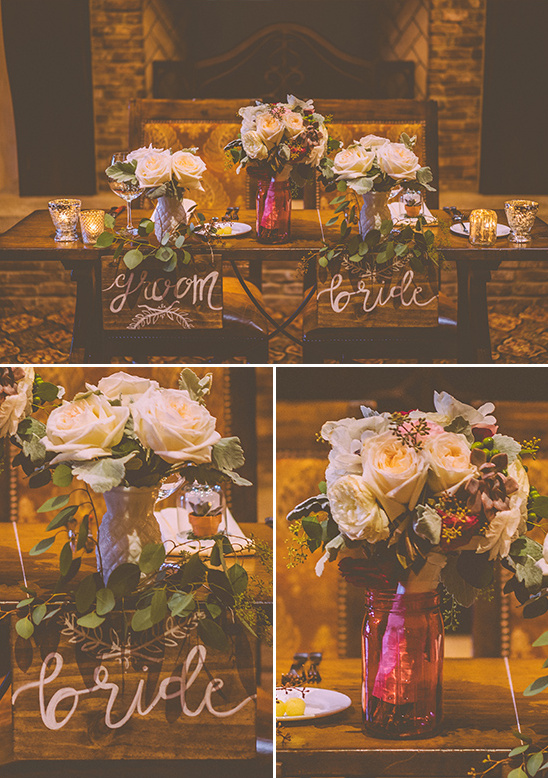 sweetheart table details @weddingchicks