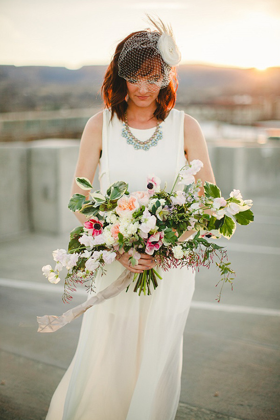 wild spring blooms bouquet DIY @weddingchicks