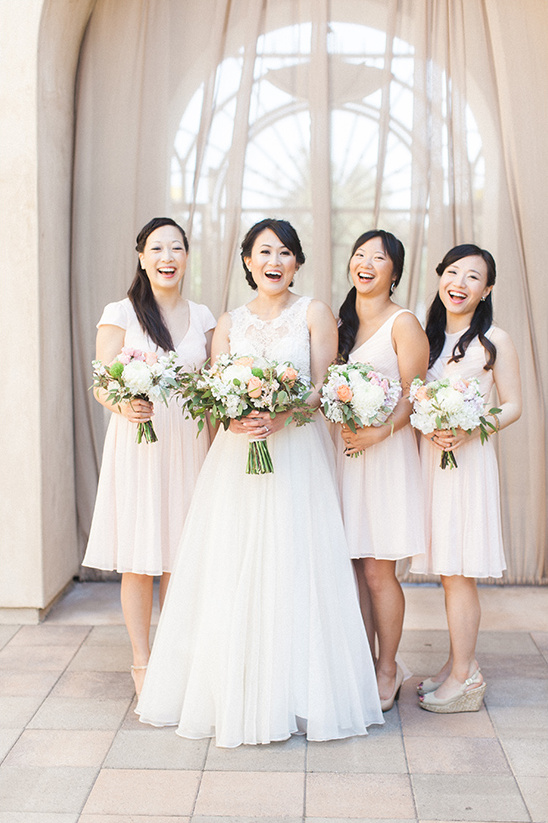 blush wedding bridesmaids @weddingchicks