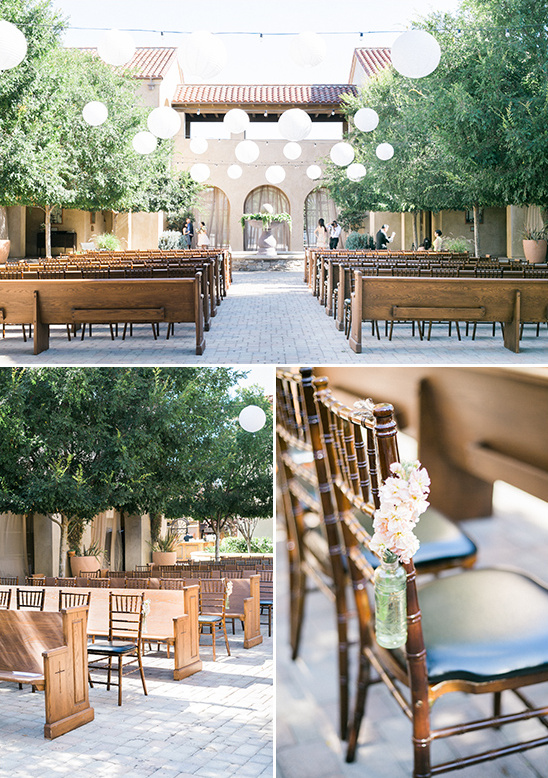 courtyard wedding ceremony @weddingchicks