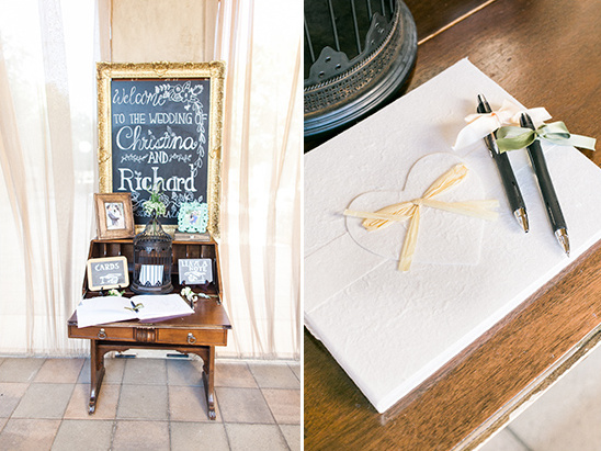 wedding guestbook table @weddingchicks