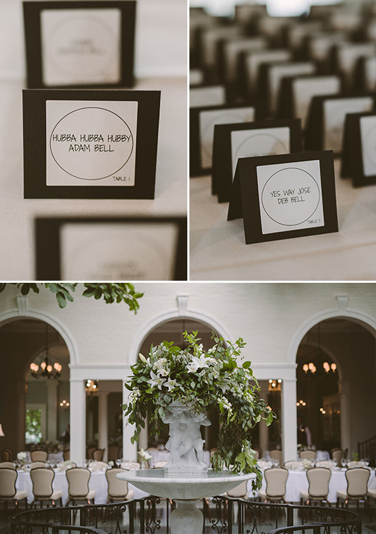 modern escort cards @weddingchicks