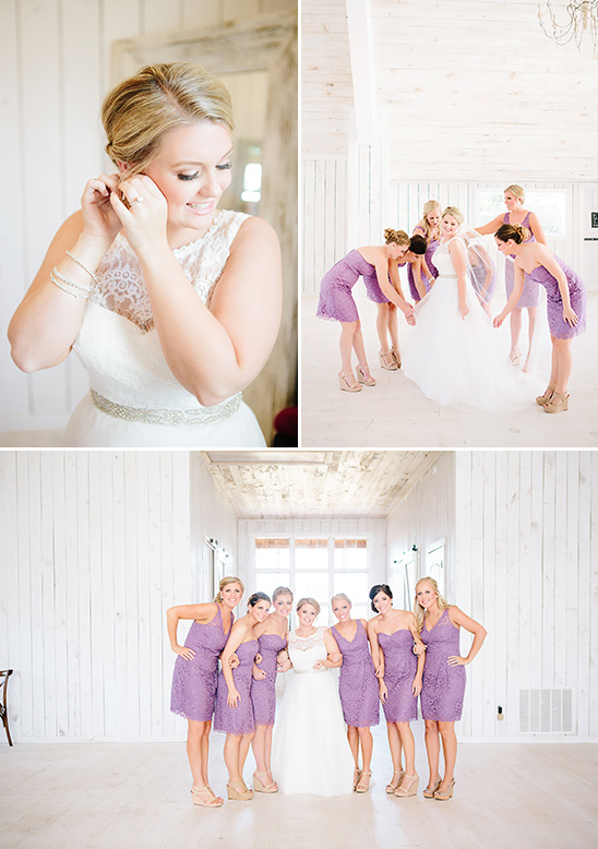purple lace bridesmaid dresses @weddingchicks