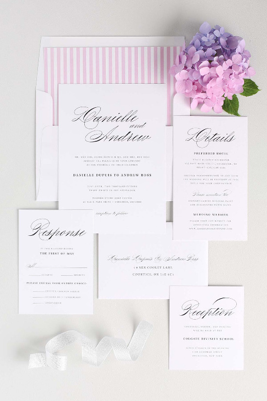 Timeless Script wedding invitation suite by Shine Wedding Invitations! @weddingchicks