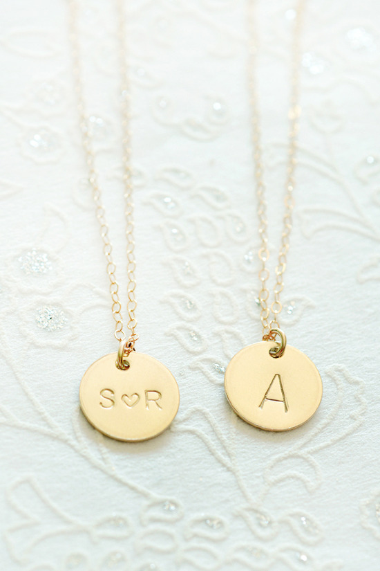Personalized necklaces from LimonBijoux. @weddingchicks