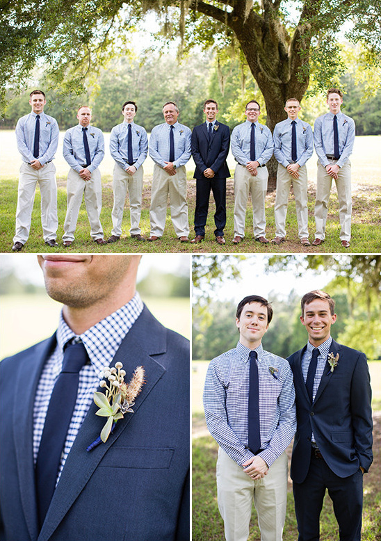 blue and tan groomsmen @weddingchicks