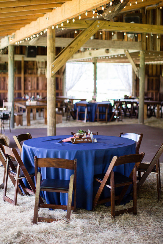 blue barn wedding decor @weddingchicks