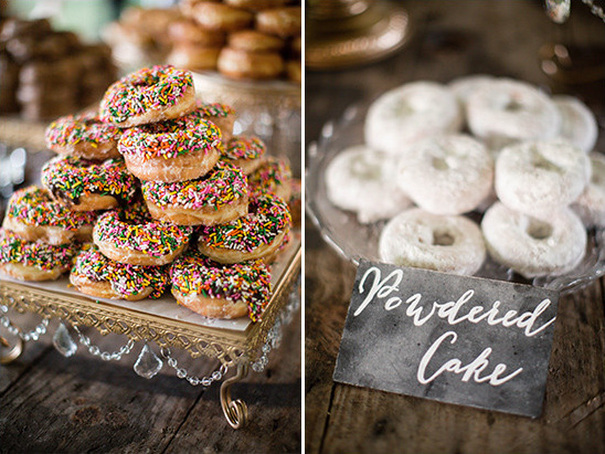 assorted donuts for wedding @weddingchicks