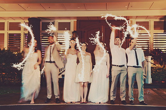 wedding sparkler exit @weddingchicks