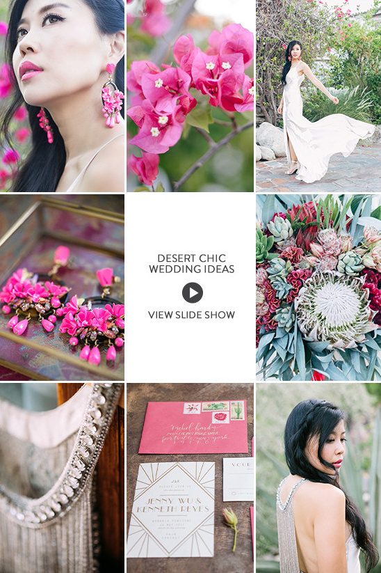 Desert Chic Wedding Ideas slideshow @weddingchicks