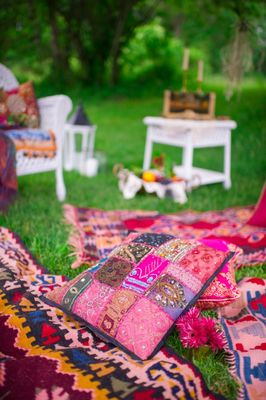 Pink and Gold Boho Chic Wedding