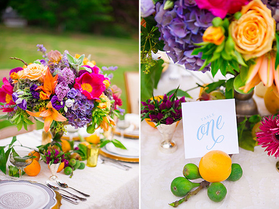 centerpiece and table number @weddingchicks