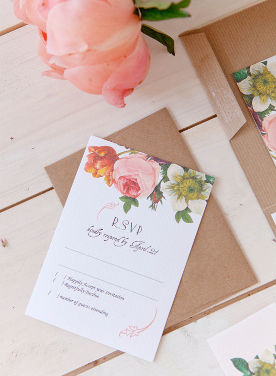wedding flower invites @weddingchicks