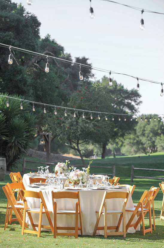 outdoor reception lighting idea @weddingchicks