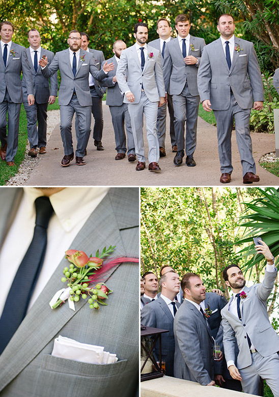 grey and navy groomsmen @weddingchicks