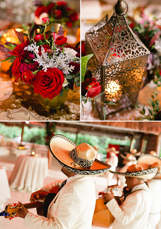 romantic gold and red reception @weddingchicks